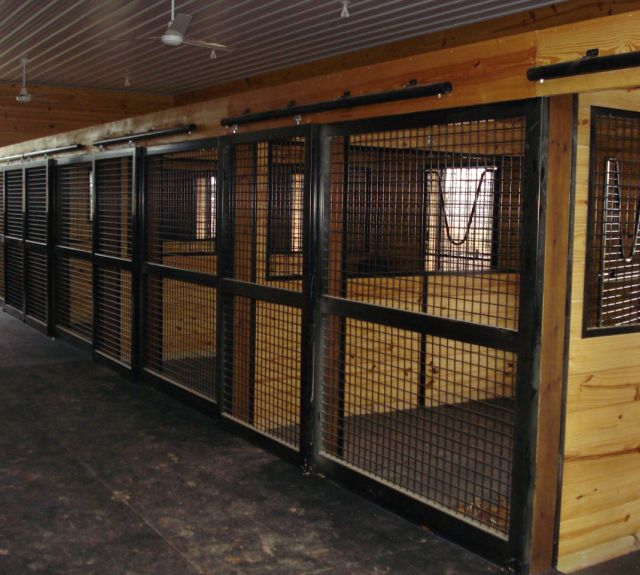 Side by side horse stalls