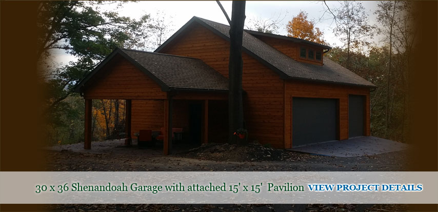 garage with pavilion